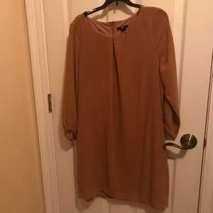 H&M mustard colored dress, size: 12